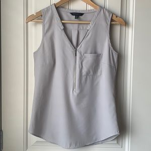 Banana Republic Sleeveless Zipper Blouse